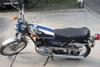 Pictures of a Blue 1972 LS2 Yamaha 100cc motorcycle