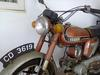 1973 Yamaha L2 Motorcycle with red paint color