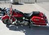 1977 Electra Glide w Classic Harley Davidson AMF design red and black paint color