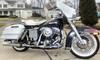 1200cc 1977 Harley Davidson FLH Electra Glide w original black and white paint color
