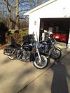 1984 Harley Davidson FLH Shovel Head Shovelhead Motorcycle with black paint color