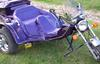 Automatic 1985 VW Three Wheel Trike Motorcycle w Custom Plum Purple paint and pinstripes