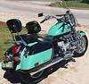 1998 Honda Valkyrie Touring Motorcycle w two tone teal and black paint