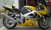 2000 SUZUKI GSXR 750 w yellow and black paint color scheme, Yoshimura exhaust system, a Zero Gravity windshield
