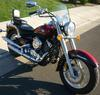2000 Yamaha V Star 650 Classic w Burgundy Red Paint color