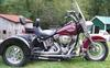 2003 Harley Davidson Softail Heritage 100th Anniversary Edition Trike Motorcycle with Vance & Hines Exhaust and easy on and off Voyager Trike Conversion Kit (this photo is for example only; please contact seller for pics of the actual motorcycle for sale in this classified)