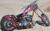 2004 Custom Chopper Motorcycle w Jesse James Fuel Tank Fenders and a Custom Paint Job