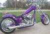 2004 Texas Chopper with Passionate Purple paint and 111 S&S polished motor hooked to the D&D performance 2 into 1 exhaust