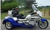 2005 Honda Goldwing Trike Motorcycle w Nova Blue and Billet Silver Paint Color Combination