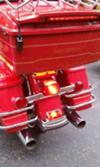 Rear Fender and Luggage Rack 2005 Harley Davidson FLSTCI Firefighter Special Edition