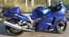 2005 Suzuki Hayabusa w royal blue paint color.