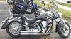 2005 Yamaha Roadstar 1700 w custom flames motorcycle paint job in black w Rinehart exhaust