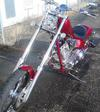 2007 American Ironhorse Texas Chopper w Custom Burgundy Red Wine Motorcycle Paint Job (example only)