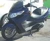 Blue 2007 Suzuki Burgman 400 Motor Scooter (example only)