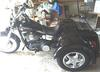 Black 2007 Custom Renegade Trike Motorcycle Three Wheeler