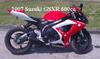 2007 Suzuki GSXR 600 with Red, White and Black Paint color scheme