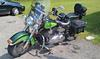 2007 Harley Davidson Heritage Softail w custom 2 tone metallic green paint color