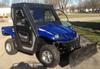 Blue 2007 Yamaha RHINO ATV UTV Warn 2500lb winch, complete cab enclosure, steel doors, glass windows and 60