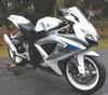 Pearl White 2008 Suzuki GSXR 600 w Yoshimura slip-on exhaust and New Dunlop Q2 Qualifiers front and rear