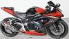 2008 SUZUKI GSXR750 GSX-R 750 GSXR 750 with two tone red and black paint color option