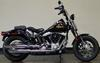 2008 Harley Davidson Cross Bones Softail FLSTSB with black paint color and springer front end
