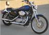 2008 Harley Davidson Sportster XL 883 w Electric Blue Paint Color