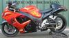 orange and black 2008 SUZUKI GSXR 1300R HAYABUSA (example only)