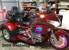 Bright Red Metallic 2008 Goldwing Trike and Hannigan motorcycle trailer