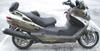 2008 Suzuki 650 Burgman Trike with Gold Paint Color and Flames Graphics