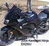 Black 2009 Kawasaki Ninja EX250J