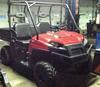 Red 2009 Polaris Ranger