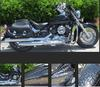 2009 Yamaha Vstar Silverado Classic with a custom black & Silver filigree motorcycle paint job