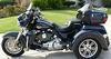 2012 Harley Davidson Trike w blue two-tone metal flake paint color scheme