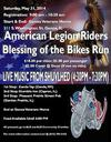 Poster Flyer for the 1st Annual American Legion Riders Motorcycle Blessing Run in Illinois