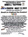 CMT/ABATE of Tennessee Annual Bike and Tattoos Show plus a Benefit for Highland Rim Headstart Rally Event Flyer Poster
