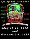 Hawg Lakes Motorcycle Rally Oklahoma 2013 Flyer Poster