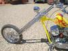 Front rake of the 2001 custom chopper motorcycle