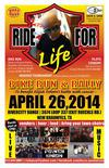 Ride for Life Motorcycle Run and Rally in Texas Flyer Poster