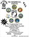 The Horsemen Motorcycle Club Poker Run Event Flyer Poster