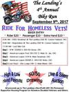 The Landing's Motorcycle Ride For Homeless Vets Flyer