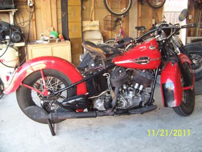 Titled, Running 1942 Harley Davidson U Big Twin Flathead
