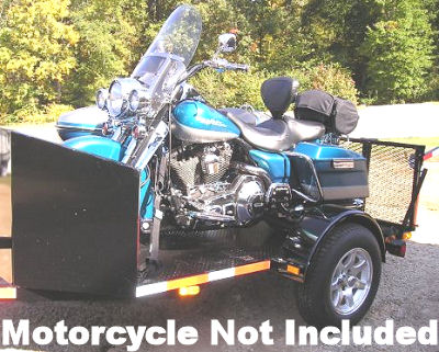 6 feet wide by 10 feet long trike motorcycle trailer