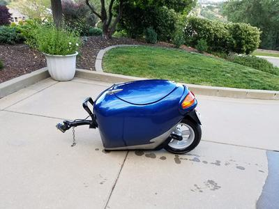 Blue Unigo Motorcycle Touring Trailer for Sale by owner in CA California