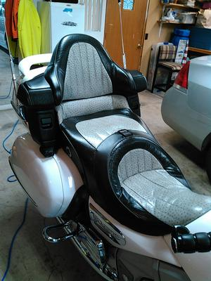 Used leather heated Corbin motorcycle seat for a Honda Goldwing for sale by owner