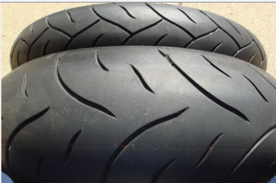 USED DUNLOP QUALIFIER MOTORCYCLE TIRES