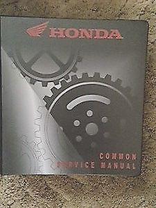 Honda Common Service Manual: Motorcycle, Motorscooter, ATV's, PWC's Binder Cover