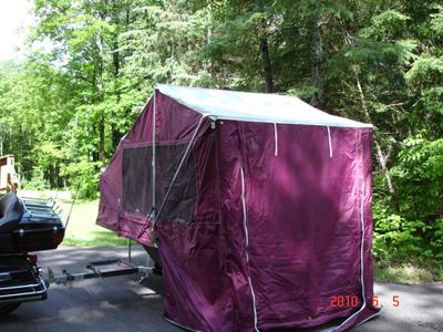 Queen Motorcycle Camper Trailer Camping Tent for Sale by Owner in WI Wisconsin