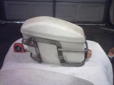 vintage 1975 hard saddlebags for Honda , Yamaha, Kawasaki motorcycles