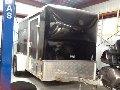 Used 1998 Wells Cargo Motorcycle Trailer for sale by owner in TX Texas5 x 10 enclosed trailer