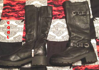 Used Womens Harley Motorcycle Boots